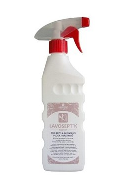 LAVOSEPT Nástroje Dezinfekční roztok na nástroje 500ml - s vůní citrónu a rozprašovačem