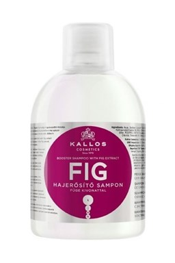 KALLOS KJMN Fig Shampoo 1000ml - šampon na slabé vlasy a roztřepené konečky