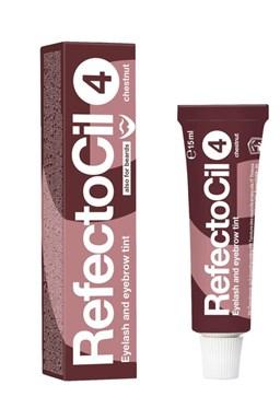 REFECTOCIL č.4 CHESTNUT - Profesionální barva na řasy, obočí a vousy 15ml - Kaštanová