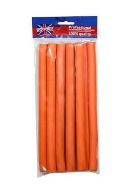 RONNEY Papiloty Flex Rollers Orange 10ks - papiloty na vlasy 16x210mm - oranžové