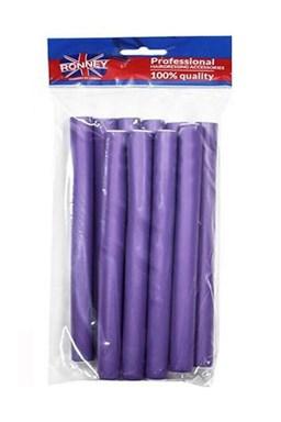 RONNEY Papiloty Flex Rollers Purple 10ks - papiloty na vlasy 20x210mm - fialové