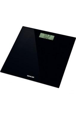 SENCOR SBS 2300BK Black Elegant Glass Scale - osobní váha, černý skleněný povrch