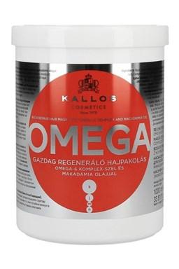 KALLOS KJMN Omega Hair Mask 1000ml - maska na lámavé vlasy a roztřepené konečky