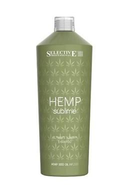 SELECTIVE Hemp Sublime Shampoo 1000ml - šampon s konopným olejem pro suché vlasy