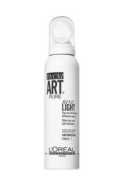 LOREAL Professionnel Tecni.Art Pure Ring Light Shine Top Coat 150ml - sprej pro maximální lesk