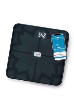 MEDISANA BS 450 BL CONNECT - Analytická digitální váha do 180kg s Bluetooth - černá
