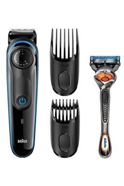 BRAUN BT 3042 Beard Trimmer zastřihovač vousů a vlasů + holicí strojek Gillette