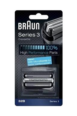 BRAUN Series 3-32B MicroComb Black - náhradní planžeta pro strojky Braun Series 3 - černá