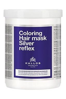 KALLOS Cosmetics Silver Reflex Mask 1000ml - stříbrná maska pro blond vlasy