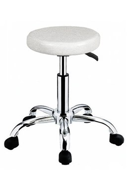 HAIRWAY Nábytek Kadeřnický taburet Comfort - kolečková židle - bílá