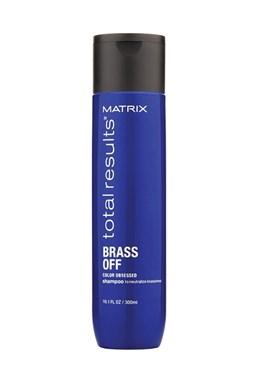 MATRIX Total Results Brass Off Silver Shampoo 300ml - šampon pro blond a melírované vlasy