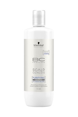 SCHWARZKOPF BC Scalp Genesis Purifying Shampoo 1000ml - šampon na mastné vlasy