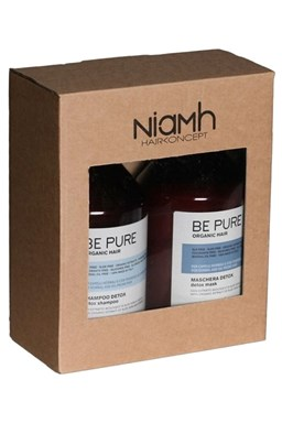 NIAMH Be Pure SET Detox  Shampoo 500ml + Detox Mask 500ml - péče na mastné vlasy