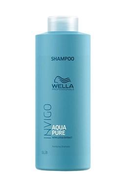 WELLA Invigo Aqua Pure Purifying Shampoo 1000ml - čistící šampon s extraktem z lotosu