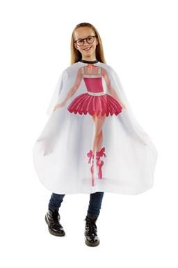 SIBEL Ballerina Dětská kadeřnická pláštěnka - bílá s potiskem baletky