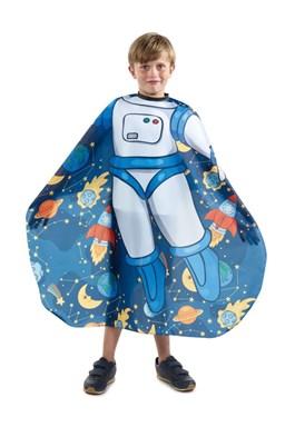 SIBEL Cutting Cape Dětská kadeřnická pláštěnka modrá - kosmonaut
