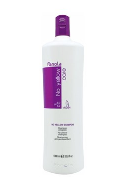 FANOLA No Yellow Shampoo 1000ml - šampon pro blond, melírované a šedivé vlasy