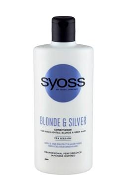SYOSS Professional Blonde And Silver Purple Conditioner 440ml - pro melírované, bílé a šedivé vlasy