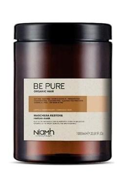 NIAMH Be Pure Restore Mask 1000ml - obnovující maska pro poškozené lámavé vlasy