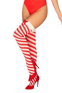 Punčochy Obsessive Kissmas stockings