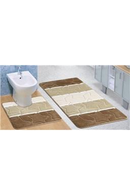Kvalitex koupelnová a WC předložka béžové hvězdy