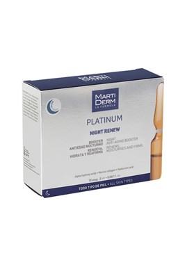 Martiderm Platinum Night Renew Ampule pro noční péči o pleť s kyselinou hyaluronovou 10 x 2 ml